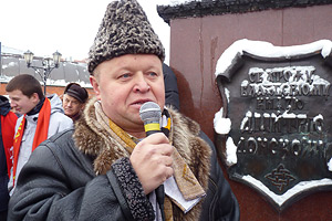 Василий Боробов в центре Дзержинского Фото: Любнарком