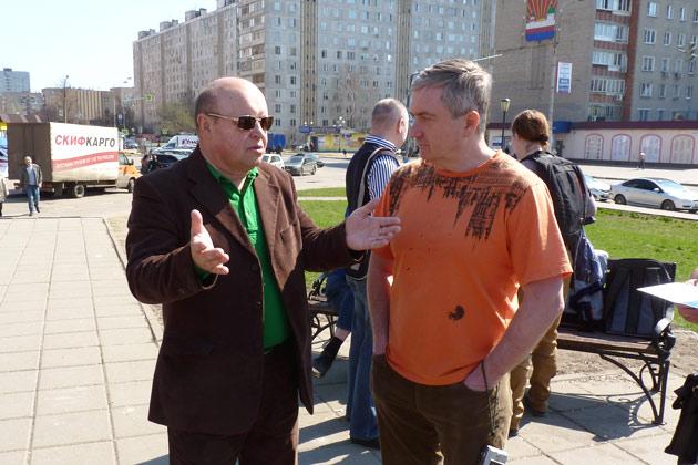 В. Боробов и С. Плетосу на Агоре 20 апреля 2014 г. Фото: Двести РУ