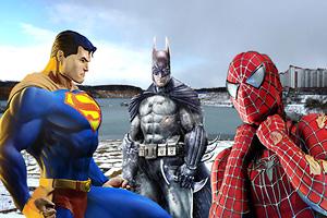 Супермен, Бэтмен и Спайдермен в Дзержинском