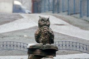 "Символ мудрости у лицея ""Парус"" Фото: Двести РУ"