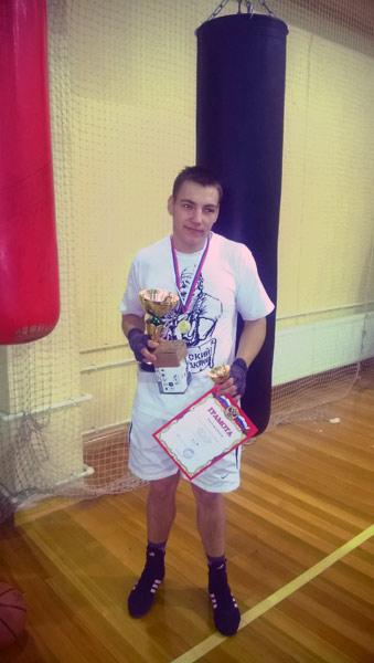 Победитель турнира Александр Дмитриев