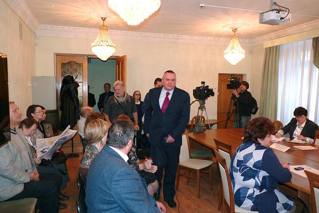 Алексей Плешаков, январь 2014. Через несколько секунд он объявит о своей отставке