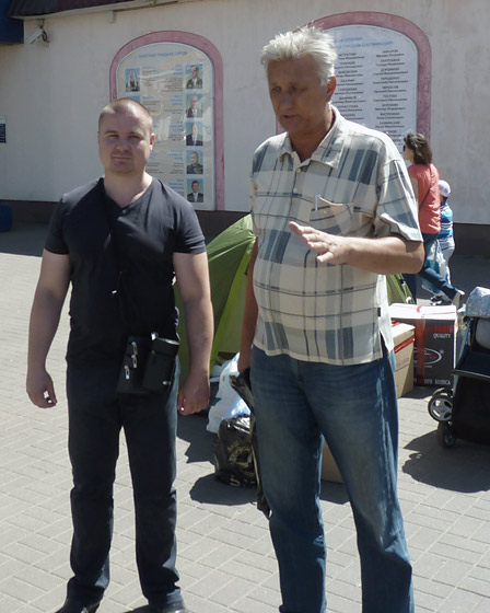 Коммунисты Артур Шлыков и Валерий Лазарев